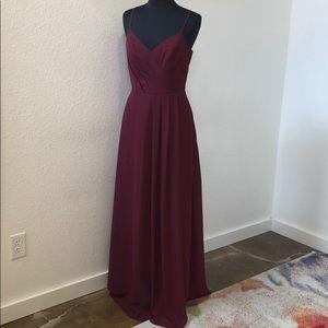 Dresses & Skirts - Burgundy chiffon gown